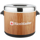 Town 56913W 96 Cup (48 Cup Raw) 18 Qt. Sushi Rice Container with Woodgrain Finish