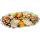 Tablecraft CW1788N Natural 20 inch x 14 inch Cast Aluminum Prism Platter