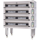 Doyon 3T4 Artisan 4 Stone 56 inch Deck Oven - 12 Pan Capacity, 480V, 3 Phase