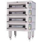 Doyon 2T4 Artisan 4 Stone 37 1/2 inch Deck Oven - 8 Pan Capacity, 480V, 3 Phase