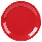 Carlisle 3300405 Sierrus 9 inch Red Narrow Rim Melamine Plate - 24/Case