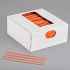 Bedford Industries Inc. 4 inch Orange Laminated Bag Twist Ties - 2000/Box