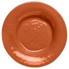 Elite Global Solutions D9PB Tuscany 14 oz. Sunburn Terra Cotta Melamine Soup / Pasta Bowl