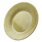 Elite Global Solutions D1214TE Beach Bums Weeping Willow Green 12 inch Round Melamine Plate