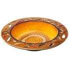 Elite Global Solutions V1325 Artist 2 Qt. Melamine Bowl with Leaf Cutout Pattern