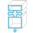All Points 74-1057 Magnetic Door Gasket - 25 1/8 inch x 54 1/8 inch
