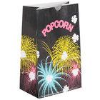 Bagcraft Packaging 300449 5 1/2 inch x 3 1/4 inch x 8 5/8 inch 85 oz. Funburst Design Popcorn Bag - 500/Case