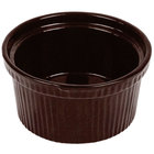 Tablecraft CW1620MIS 1 Qt. Midnight Speckle Cast Aluminum Souffle Bowl with Ridges