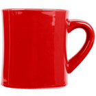 CAC HAR-75-R Red 7.5 oz. Venice Hartford Mug - 36/Case
