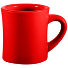 CAC HAR-75-R Red 7.5 oz. Venice Hartford Mug - 36/Case