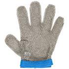 Victorinox 81504 saf-T-gard GU-500 Blue Cut Resistant Stainless Steel Mesh Glove - Large