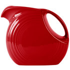 Homer Laughlin 484326 Fiesta Scarlet 2.1 Qt. Large Disc China Pitcher - 2/Case