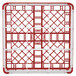 "Vollrath 52727 Signature Full-Size Red 9-Compartment 4 5/16"" Medium Glass Rack Thumbnail 5"
