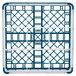 "Vollrath 52727 Signature Full-Size Royal Blue 9-Compartment 4 5/16"" Medium Glass Rack Thumbnail 5"