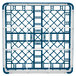 "Vollrath 52761 Signature Full-Size Royal Blue 9-Compartment 4 13/16"" Medium Plus Glass Rack Thumbnail 5"