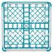 "Vollrath 52761 Signature Full-Size Light Blue 9-Compartment 4 13/16"" Medium Plus Glass Rack Thumbnail 5"