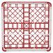 """Vollrath 52761 Signature Full-Size Red 9-Compartment 4 13/16"""" Medium Plus Glass Rack Thumbnail 5"""