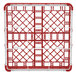"Vollrath 5276033 Signature Full-Size Red 9-Compartment 3 1/4"" Short Plus Glass Rack Thumbnail 5"