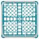 "Vollrath 52729 Signature Full-Size Light Blue 9-Compartment 8 1/2"" XX-Tall Glass Rack Thumbnail 5"
