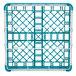 "Vollrath 5276044 Signature Full-Size Light Blue 9-Compartment 3 1/4"" Short Plus Glass Rack Thumbnail 5"