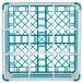"Vollrath 52765 Signature Full-Size Light Blue 9-Compartment 10 9/16"" XXX-Tall Plus Glass Rack Thumbnail 5"