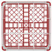 "Vollrath 52764 Signature Full-Size Red 9-Compartment 9 1/16"" XX-Tall Plus Glass Rack Thumbnail 5"