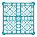 "Vollrath 52778 Signature Full-Size Light Blue 36-Compartment 3 1/4"" Short Plus Glass Rack Thumbnail 5"