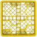 "Vollrath TR18JJ Traex® Rack Max Full-Size Yellow 12-Compartment 6 3/8"" Glass Rack Thumbnail 4"