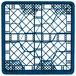 "Vollrath TR18 Traex® Rack Max Full-Size Royal Blue 12-Compartment 3 1/4"" Glass Rack Thumbnail 4"