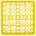 """Vollrath TR8DDDDA Traex® Full-Size Yellow 16-Compartment 11"""" Glass Rack with Open Rack Extender On Top Thumbnail 4"""