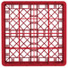 """Vollrath TR8DDDA Traex® Full-Size Red 16-Compartment 9 7/16"""" Glass Rack with Open Rack Extender On Top Thumbnail 4"""