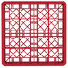 "Vollrath TR8DDA Traex® Full-Size Red 16-Compartment 7 7/8"" Glass Rack with Open Rack Extender On Top Thumbnail 4"