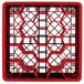 "Vollrath TR11GGGGA Traex® Rack Max Full-Size Red 20-Compartment 11 7/8"" Glass Rack with Open Rack Extender On Top Thumbnail 4"