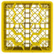 """Vollrath TR11GGGGG Traex® Rack Max Full-Size Yellow 20-Compartment 11 7/8"""" Glass Rack Thumbnail 4"""
