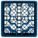 """Vollrath TR11GGGGA Traex® Rack Max Full-Size Royal Blue 20-Compartment 11 7/8"""" Glass Rack with Open Rack Extender On Top Thumbnail 4"""