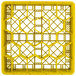 """Vollrath TR11GA Traex® Rack Max Full-Size Yellow 20-Compartment 6 3/8"""" Glass Rack with Open Rack Extender On Top Thumbnail 4"""