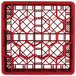 "Vollrath TR11GA Traex® Rack Max Full-Size Red 20-Compartment 6 3/8"" Glass Rack with Open Rack Extender On Top Thumbnail 4"