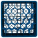 """Vollrath TR12HHHHA Traex® Rack Max Full-Size Royal Blue 30-Compartment 11 7/8"""" Glass Rack with Open Rack Extender On Top Thumbnail 4"""