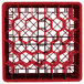 """Vollrath TR12HHHHA Traex® Rack Max Full-Size Red 30-Compartment 11 7/8"""" Glass Rack with Open Rack Extender On Top Thumbnail 4"""
