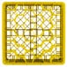 """Vollrath TR12HHH Traex® Rack Max Full-Size Yellow 30-Compartment 7 7/8"""" Glass Rack Thumbnail 4"""