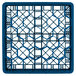 "Vollrath TR12A Traex® Rack Max Full-Size Royal Blue 30-Compartment 4 13/16"" Glass Rack with Open Rack Extender On Top Thumbnail 4"