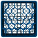 """Vollrath TR12HHHA Traex® Rack Max Full-Size Royal Blue 30-Compartment 9 7/16"""" Glass Rack with Open Rack Extender On Top Thumbnail 4"""