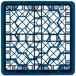 "Vollrath TR12HH Traex® Rack Max Full-Size Royal Blue 30-Compartment 6 3/8"" Glass Rack Thumbnail 4"