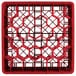 "Vollrath TR12HHHA Traex® Rack Max Full-Size Red 30-Compartment 9 7/16"" Glass Rack with Open Rack Extender On Top Thumbnail 4"