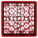 """Vollrath TR12HHH Traex® Rack Max Full-Size Red 30-Compartment 7 7/8"""" Glass Rack Thumbnail 4"""
