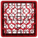 """Vollrath TR12HHHH Traex® Rack Max Full-Size Red 30-Compartment 9 7/16"""" Glass Rack Thumbnail 4"""