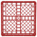 """Vollrath 52681 Signature Full-Size Red 6 7/8"""" Tall Open Rack Thumbnail 3"""