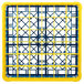 Carlisle RG36-1C411 OptiClean 36 Compartment Yellow Color-Coded Glass Rack with 1 Extender Thumbnail 4
