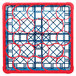 Carlisle RW20-C410 OptiClean NeWave 20 Compartment Color-Coded Glass Rack with 1 Red Extender Thumbnail 4