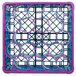 Carlisle RW20-4C414 OptiClean NeWave 20 Compartment Lavender Color-Coded Glass Rack with 5 Extenders Thumbnail 4